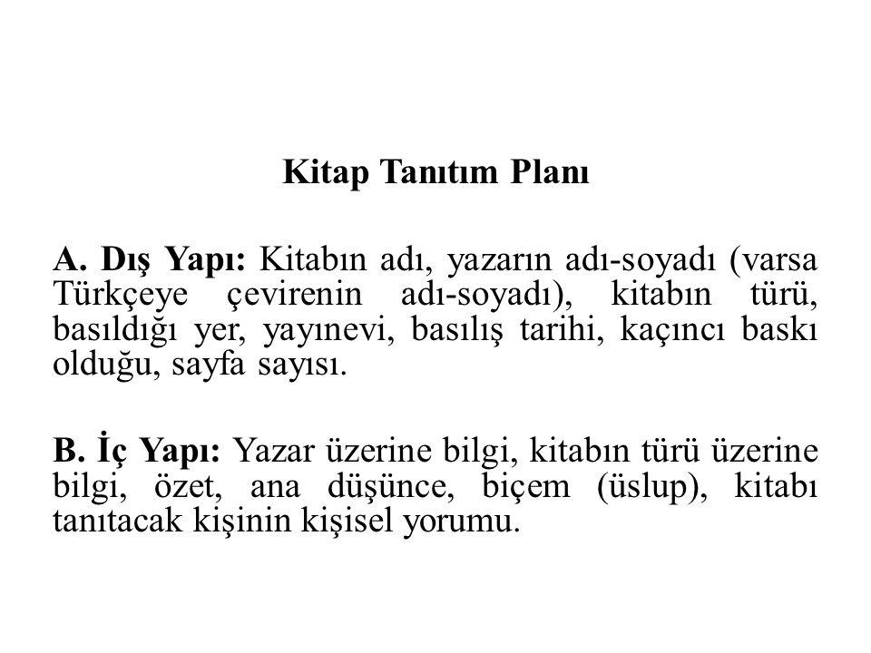 Kitap Tanıtım Planı