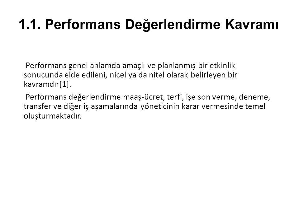 1.1. Performans Değerlendirme Kavramı