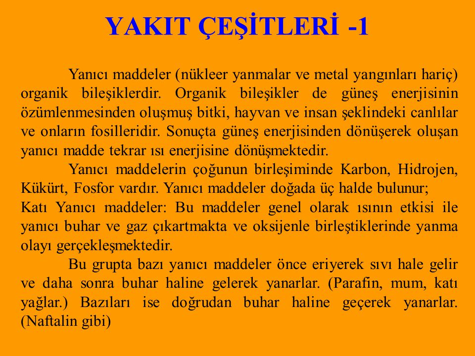 YAKIT ÇEŞİTLERİ -1