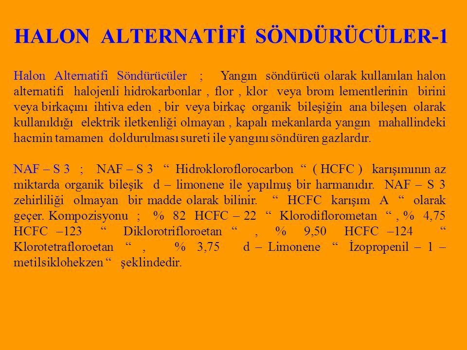 HALON ALTERNATİFİ SÖNDÜRÜCÜLER-1