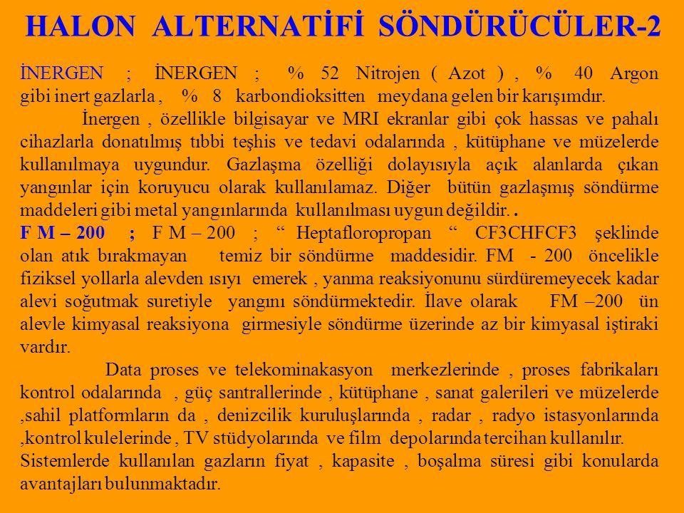 HALON ALTERNATİFİ SÖNDÜRÜCÜLER-2