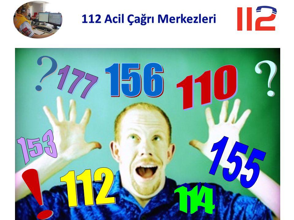 112 Acil Çağrı Merkezleri 155 112 156 110 177 114 153 !