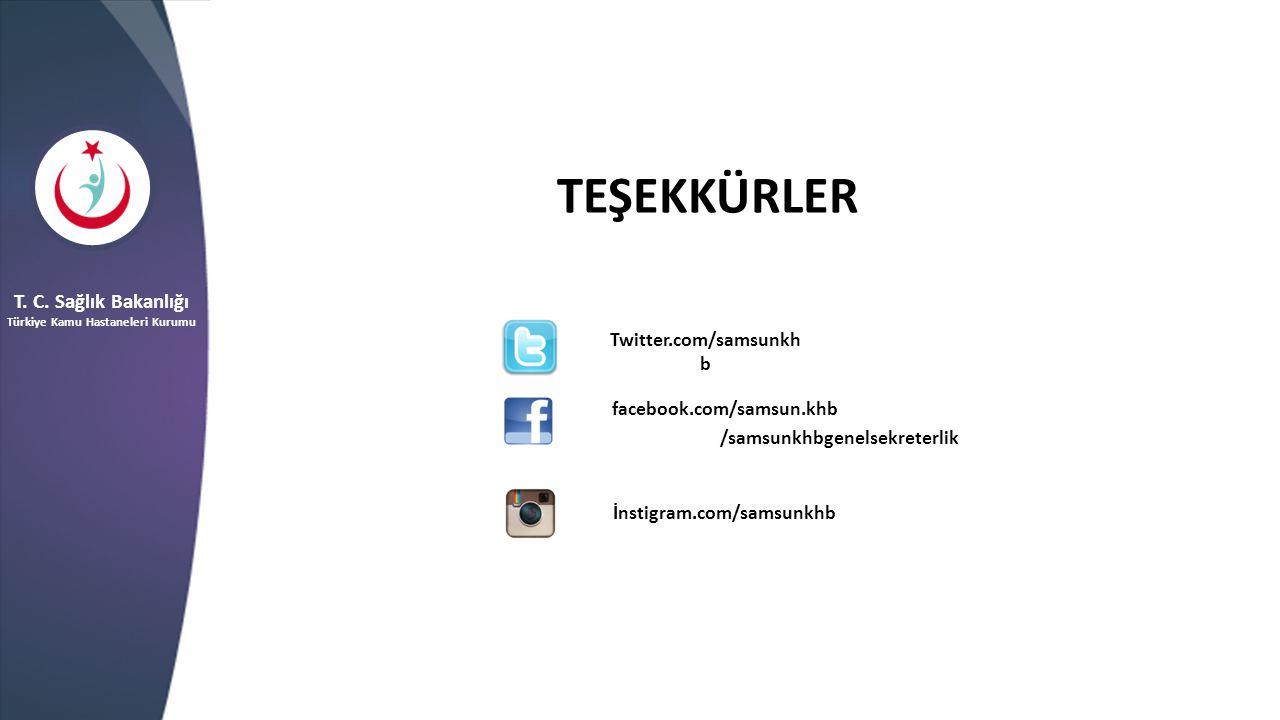 TEŞEKKÜRLER T. C. Sağlık Bakanlığı Twitter.com/samsunkhb