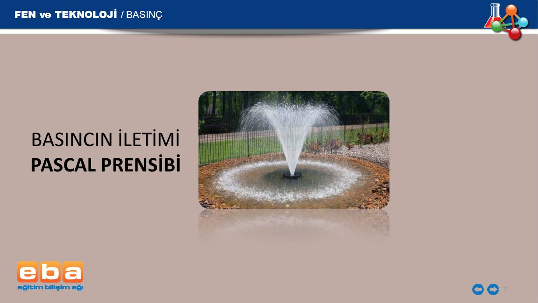 BASINCIN İLETİMİ PASCAL PRENSİBİ