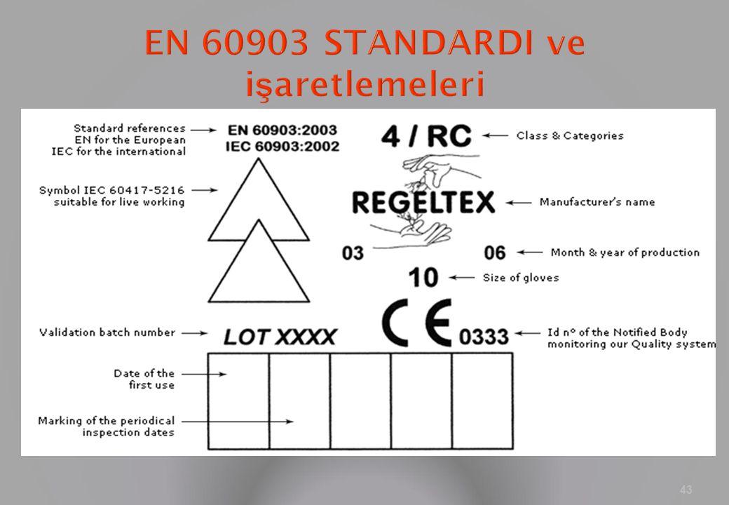 EN 60903 STANDARDI ve işaretlemeleri