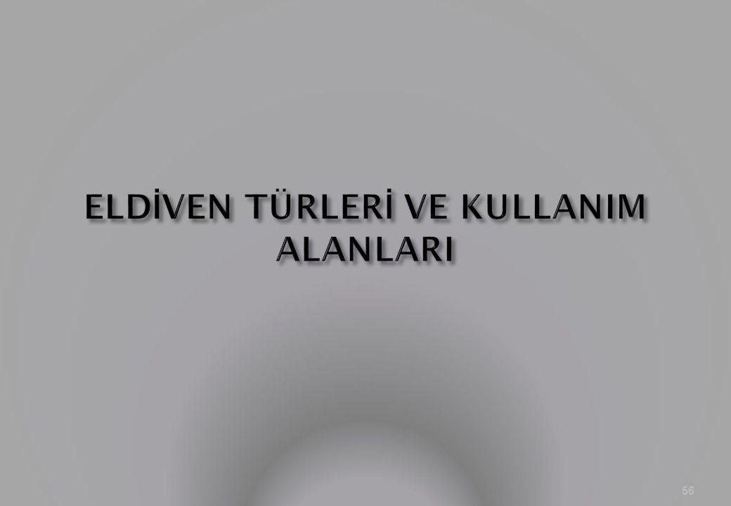 ELDİVEN TÜRLERİ VE KULLANIM ALANLARI
