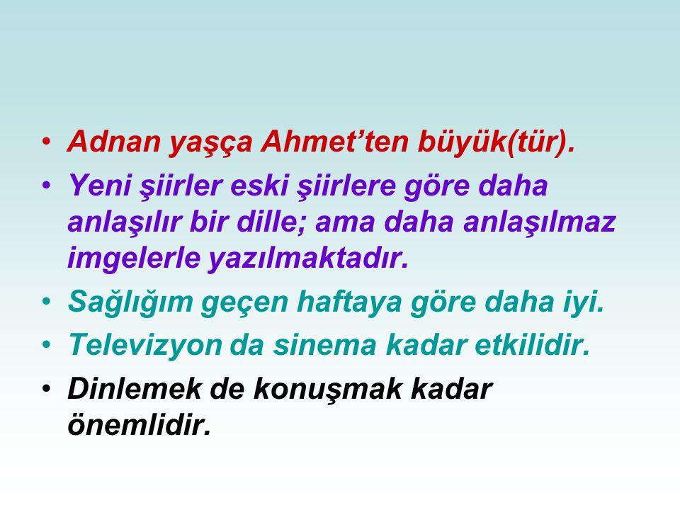 Adnan yaşça Ahmet'ten büyük(tür).