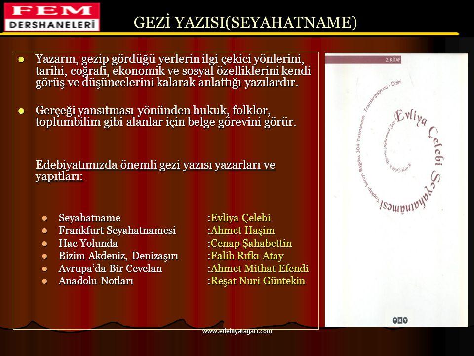 GEZİ YAZISI(SEYAHATNAME)