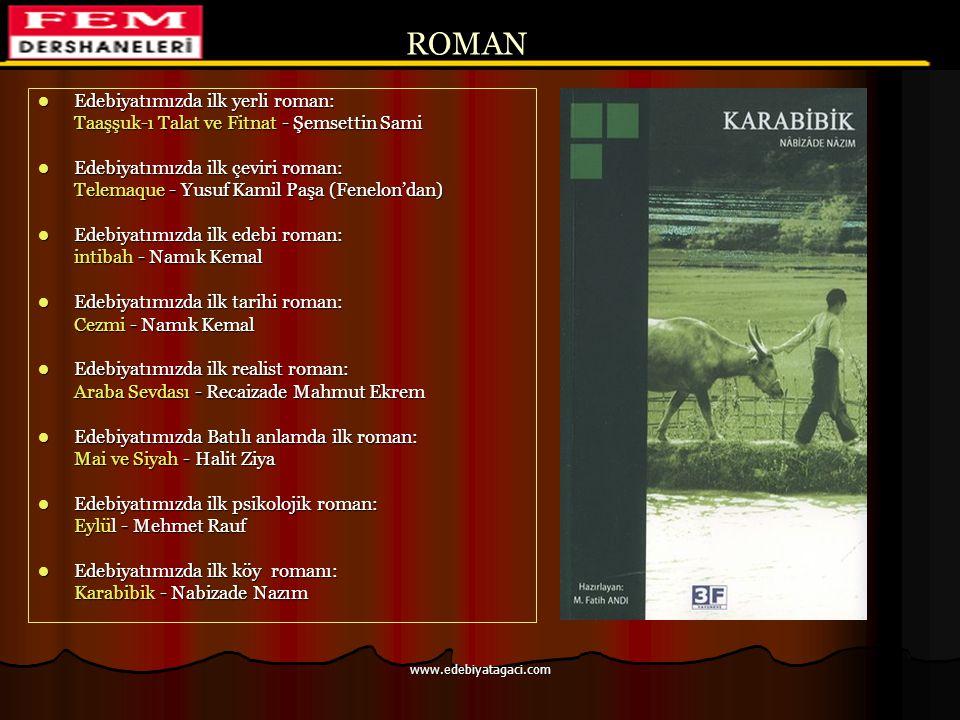 ROMAN Edebiyatımızda ilk yerli roman: