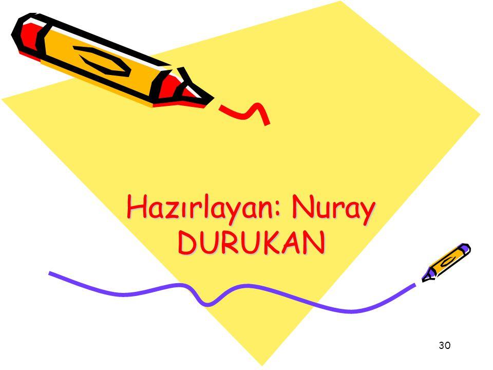 Hazırlayan: Nuray DURUKAN