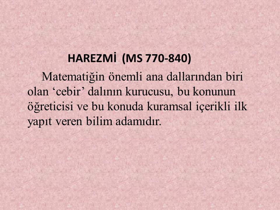 HAREZMİ (MS 770-840)