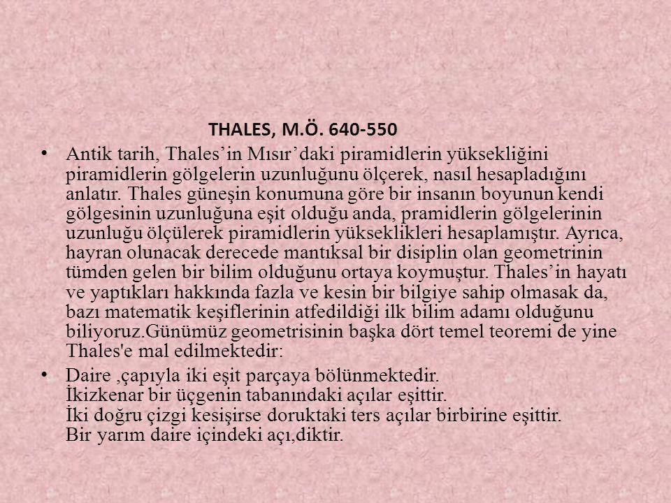 THALES, M.Ö. 640-550