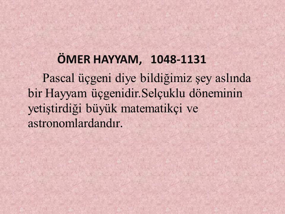 ÖMER HAYYAM, 1048-1131