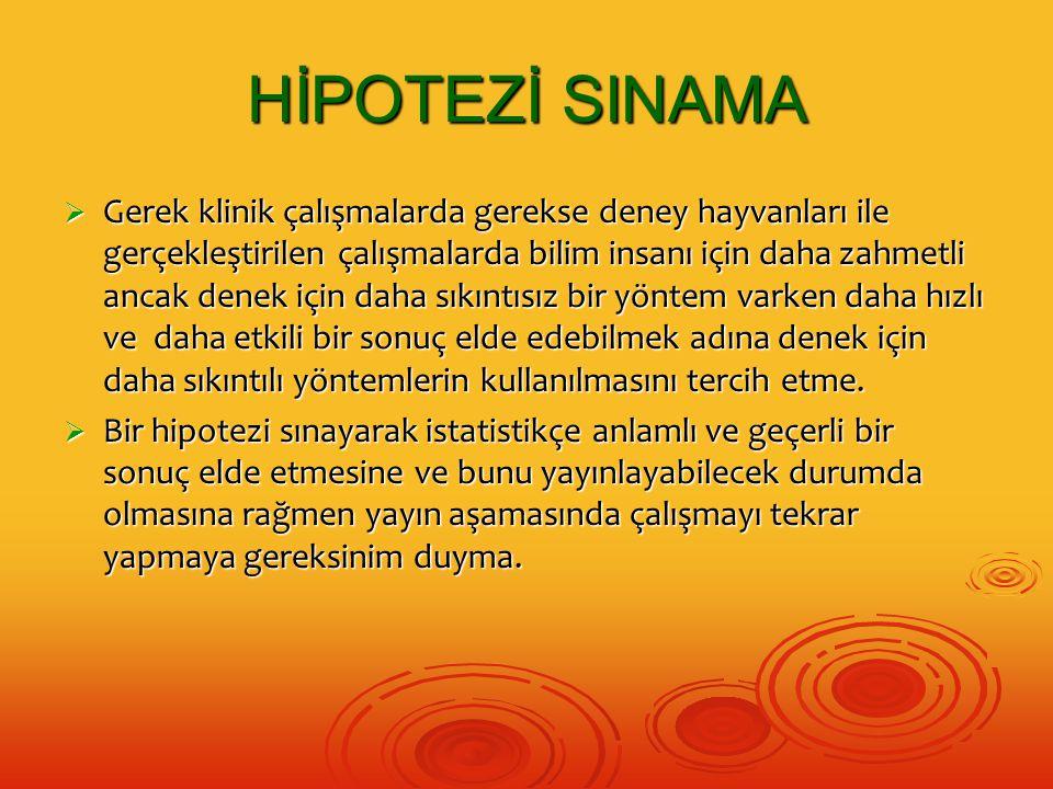 HİPOTEZİ SINAMA