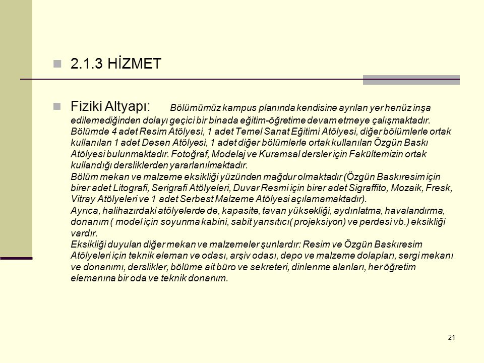 2.1.3 HİZMET