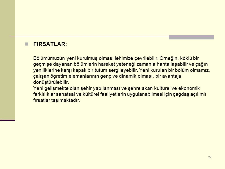 FIRSATLAR: