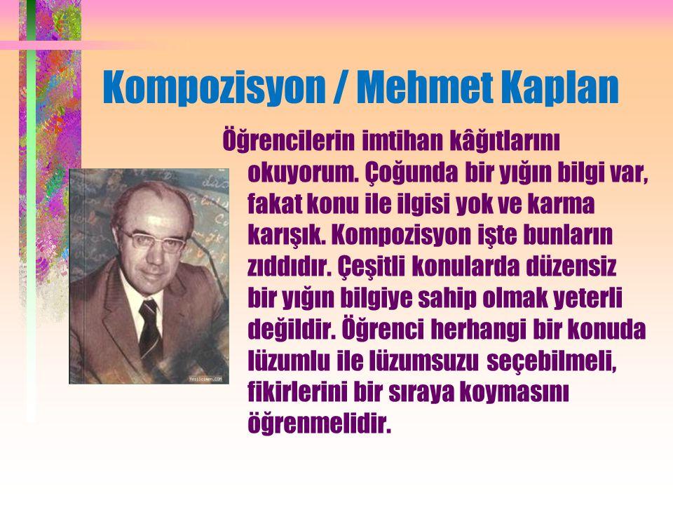Kompozisyon / Mehmet Kaplan