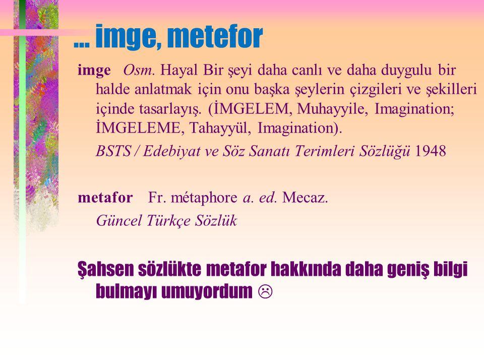 … imge, metefor