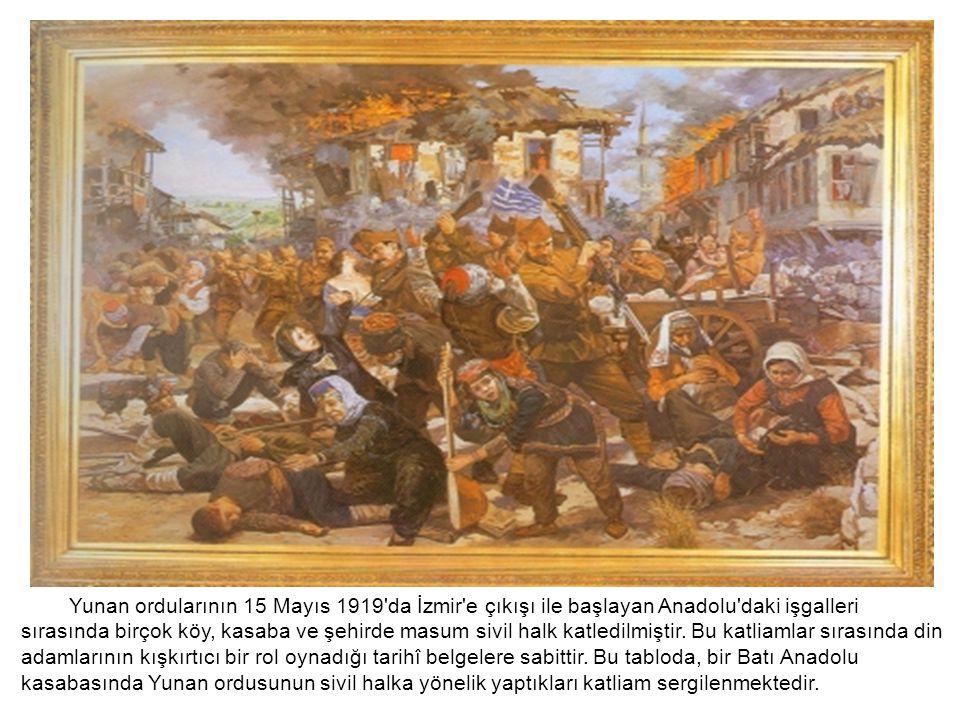 Yunan ordularının 15 Mayıs 1919 da İzmir e çıkışı ile başlayan Anadolu daki işgalleri sırasında birçok köy, kasaba ve şehirde masum sivil halk katledilmiştir.