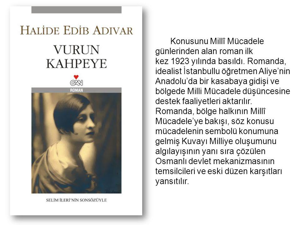 Konusunu Millî Mücadele günlerinden alan roman ilk kez 1923 yılında basıldı.