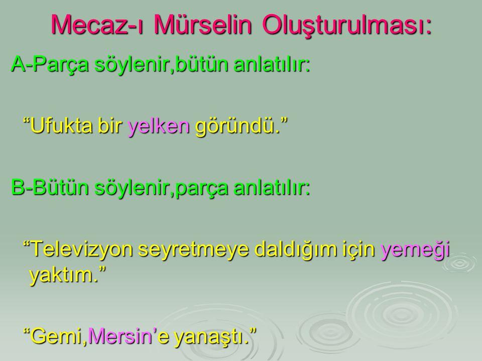 Mecaz-ı Mürselin Oluşturulması: