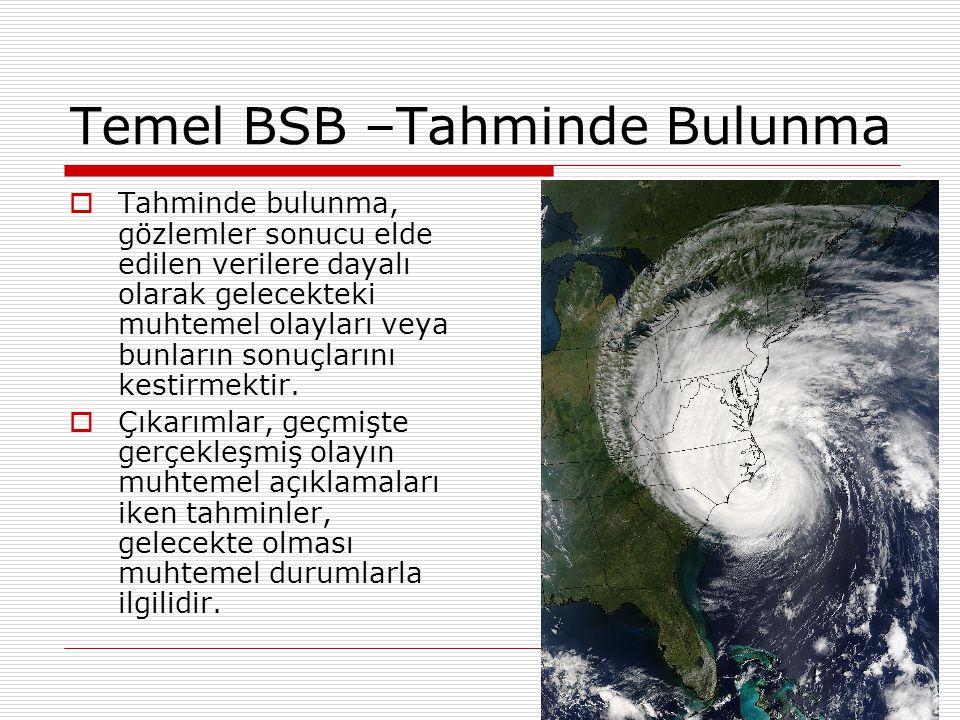 Temel BSB –Tahminde Bulunma