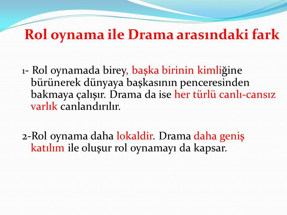 Rol oynama ile Drama arasındaki fark