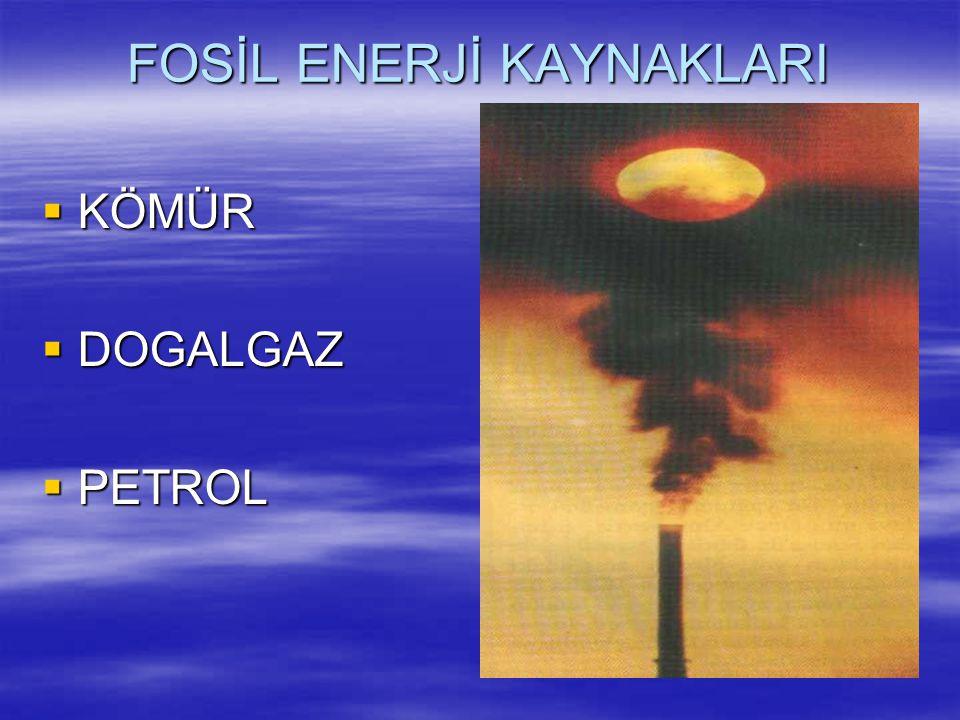 FOSİL ENERJİ KAYNAKLARI