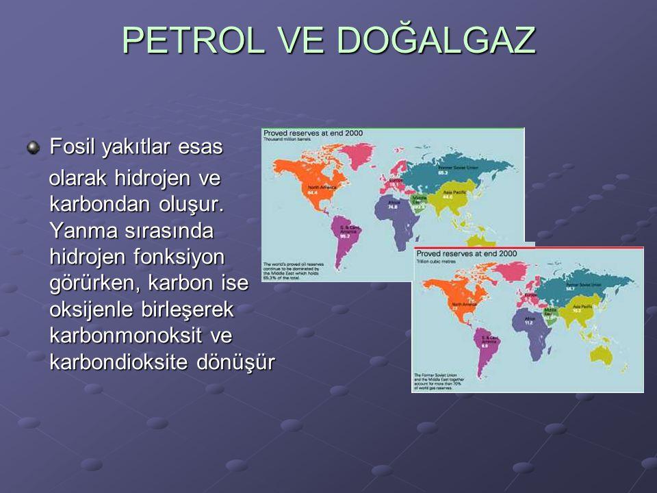 PETROL VE DOĞALGAZ Fosil yakıtlar esas