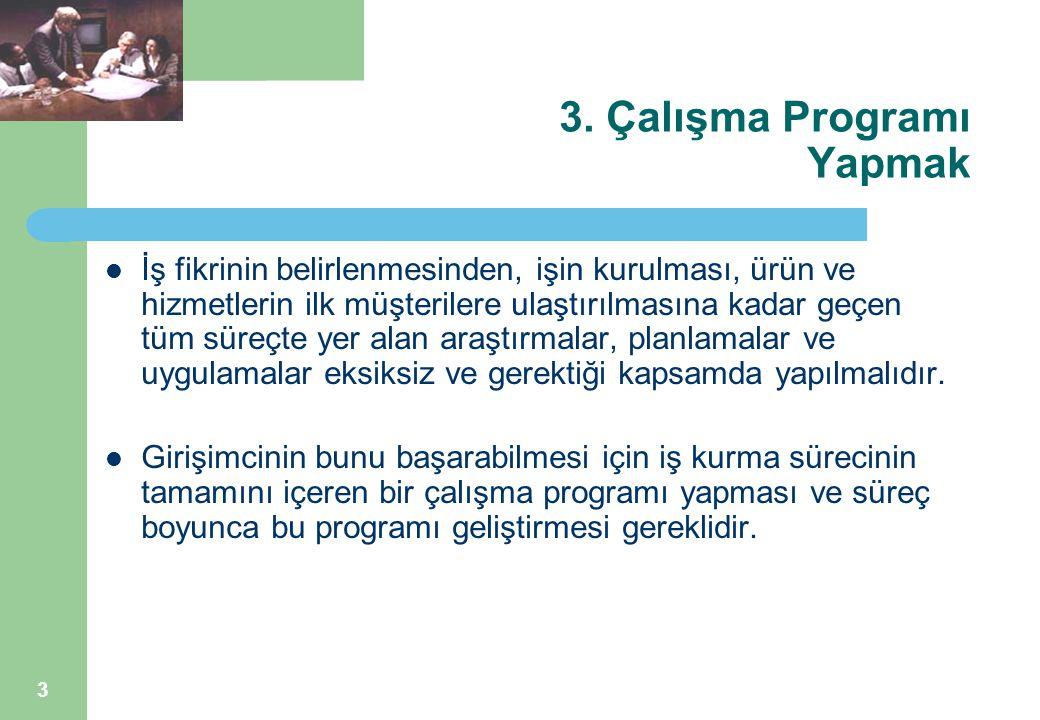 3. Çalışma Programı Yapmak