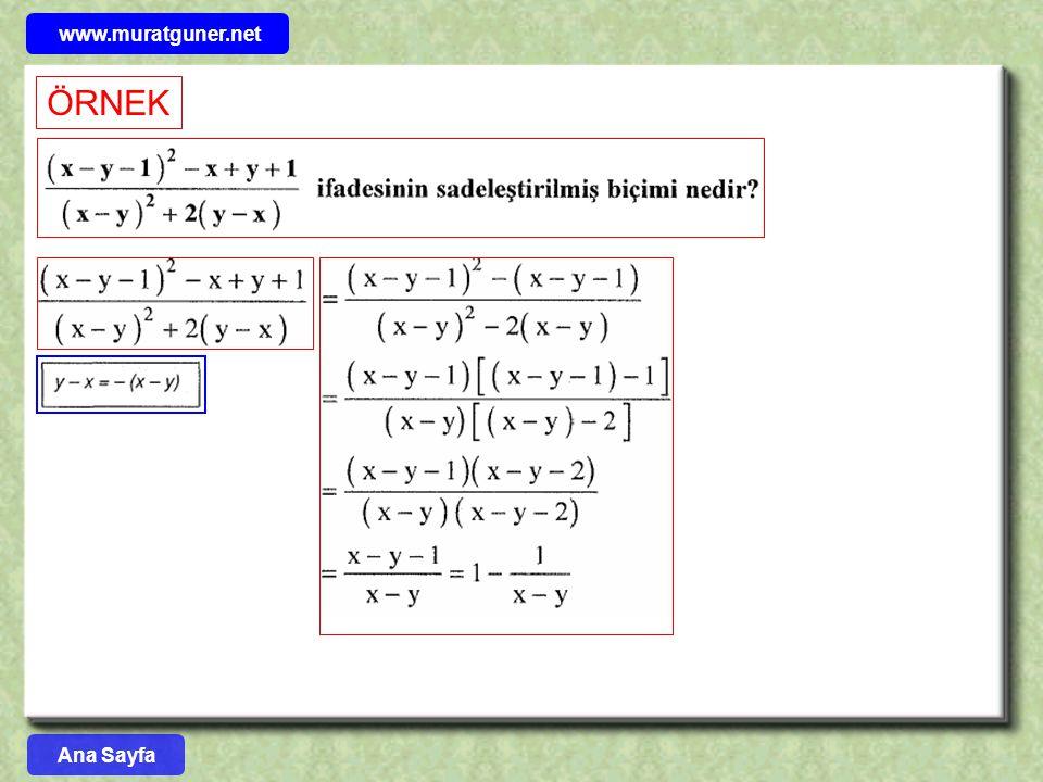 www.muratguner.net ÖRNEK Ana Sayfa 11