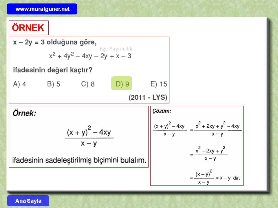 www.muratguner.net ÖRNEK Ana Sayfa 23