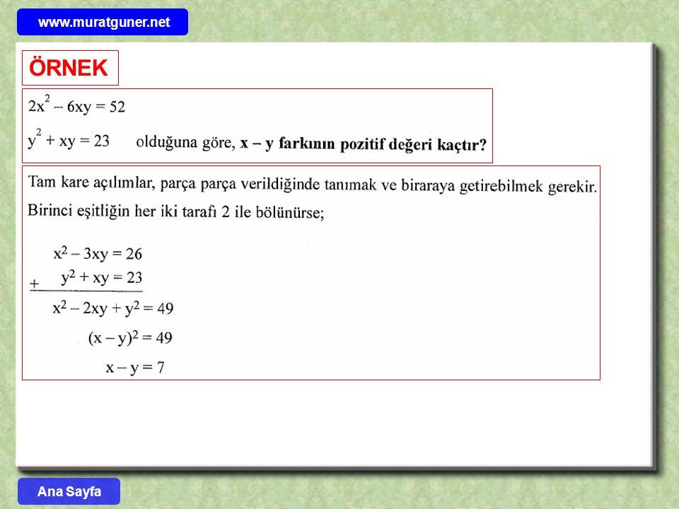 www.muratguner.net ÖRNEK Ana Sayfa 28