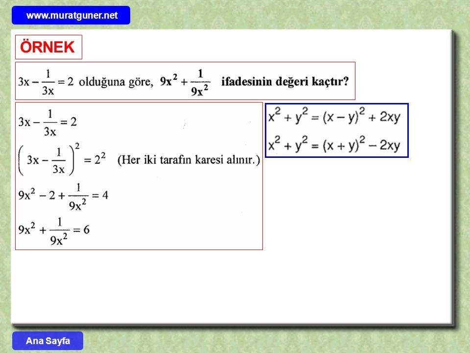 www.muratguner.net ÖRNEK Ana Sayfa 30