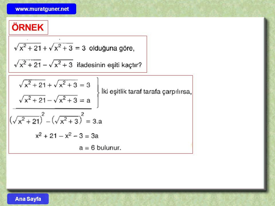 www.muratguner.net ÖRNEK Ana Sayfa 55