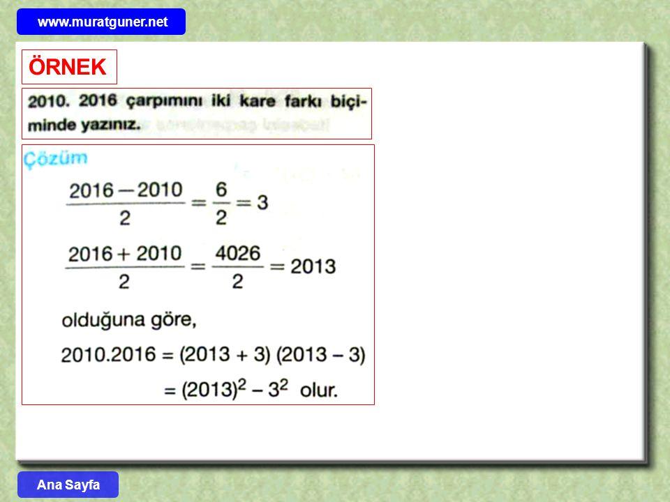 www.muratguner.net ÖRNEK Ana Sayfa 56