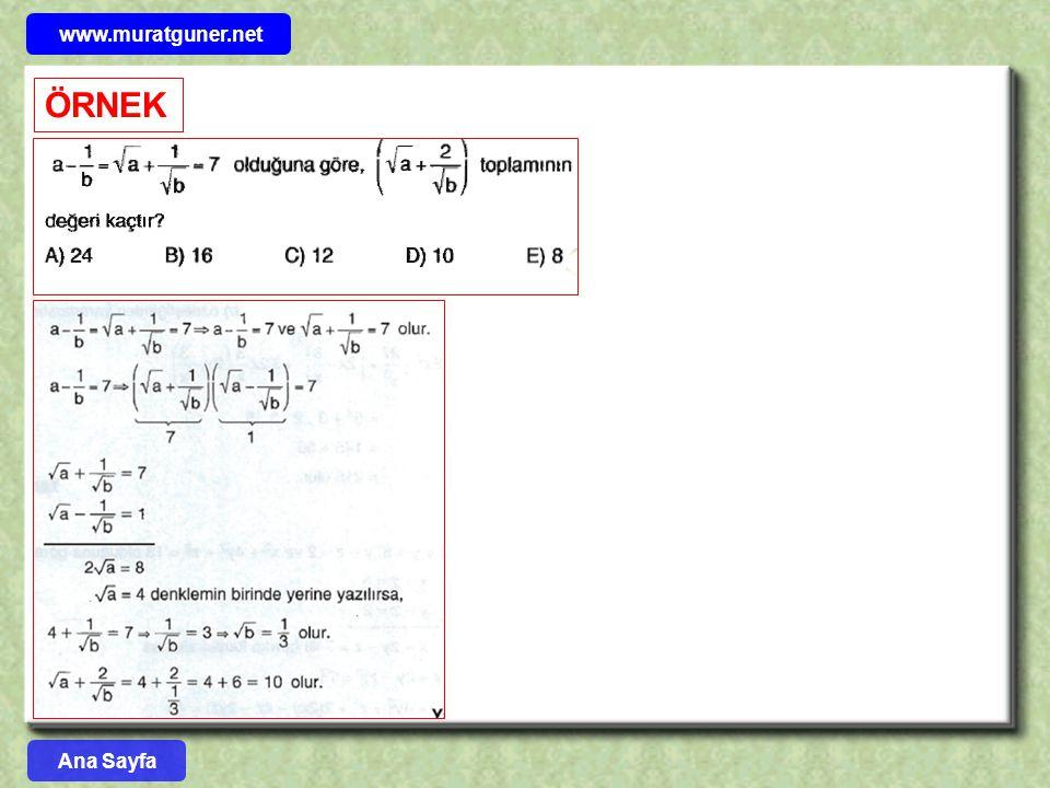 www.muratguner.net ÖRNEK Ana Sayfa 57
