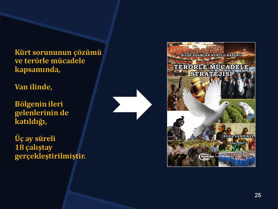 Kürt sorununun çözümü ve terörle mücadele kapsamında, Van ilinde,