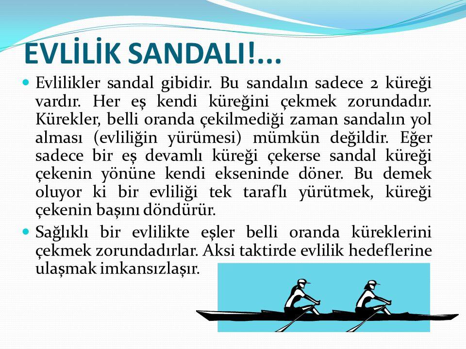 EVLİLİK SANDALI!...