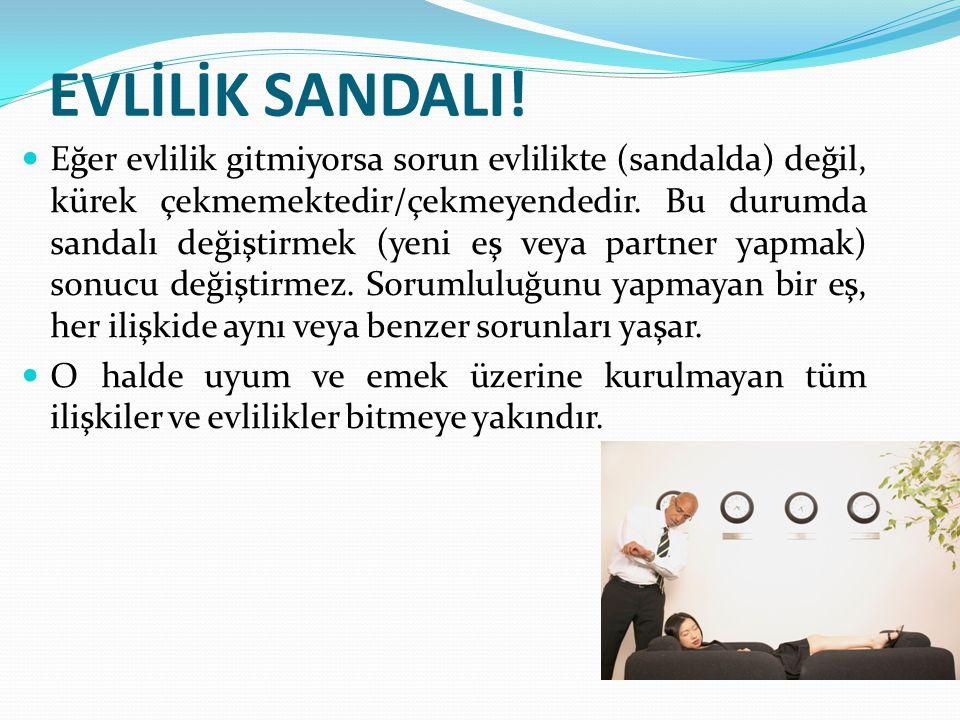 EVLİLİK SANDALI!