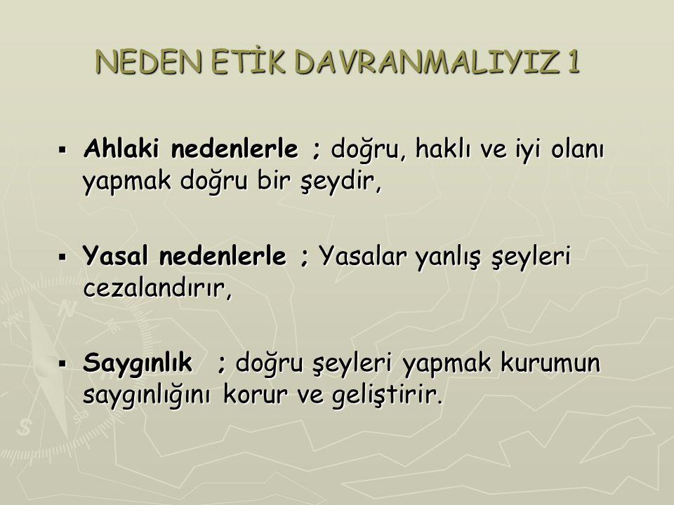 NEDEN ETİK DAVRANMALIYIZ 1
