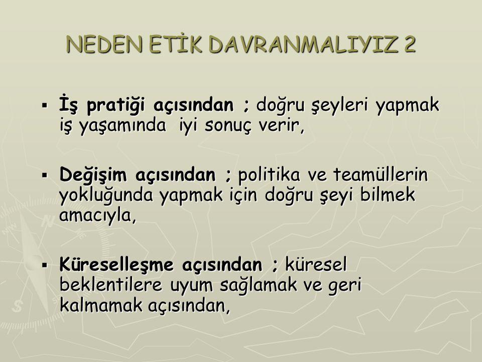 NEDEN ETİK DAVRANMALIYIZ 2