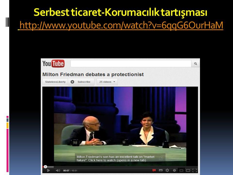 Serbest ticaret-Korumacılık tartışması http://www. youtube. com/watch