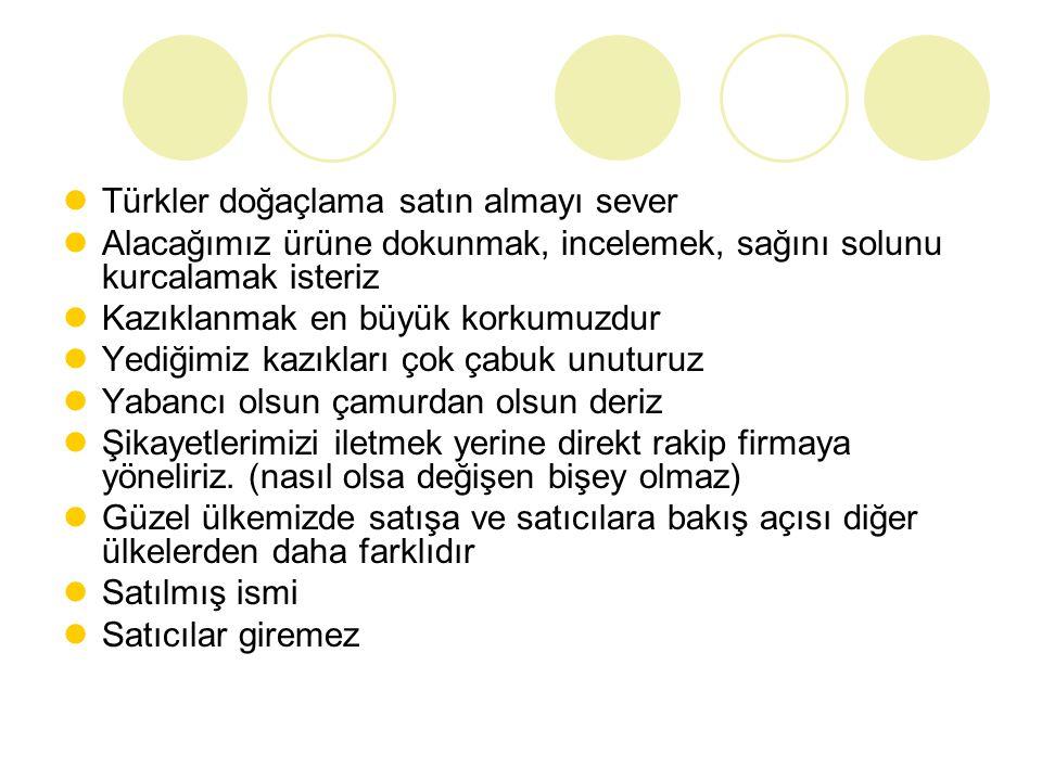 Türkler doğaçlama satın almayı sever