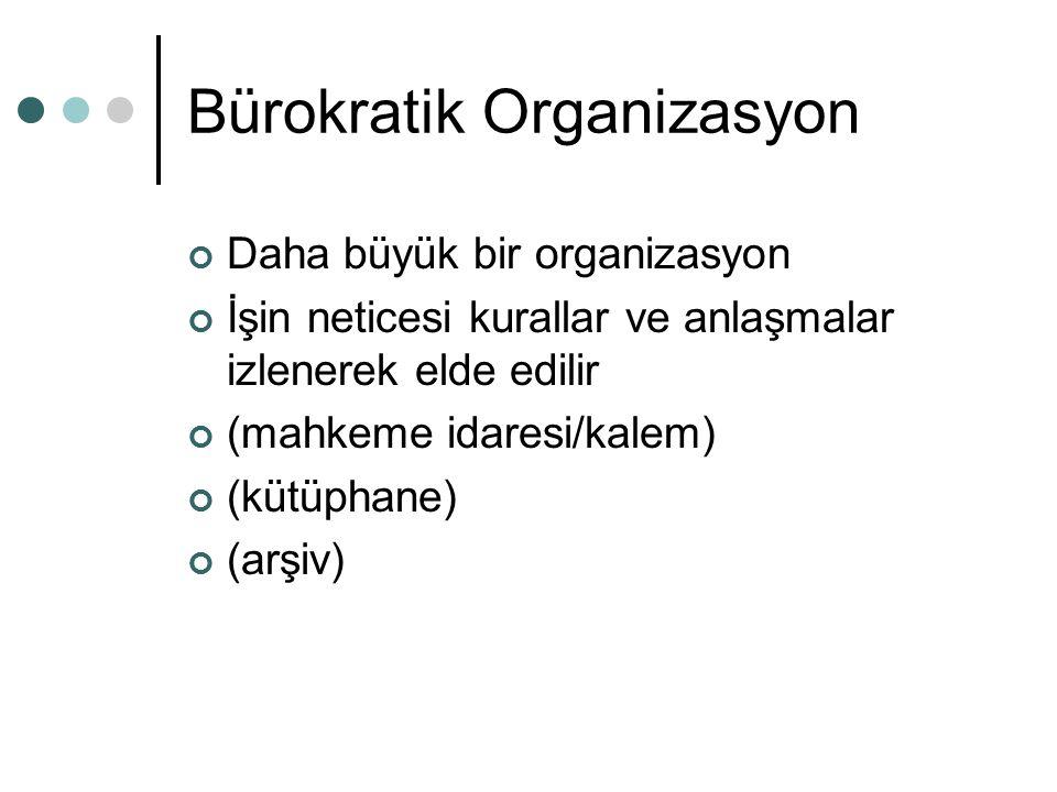 Bürokratik Organizasyon