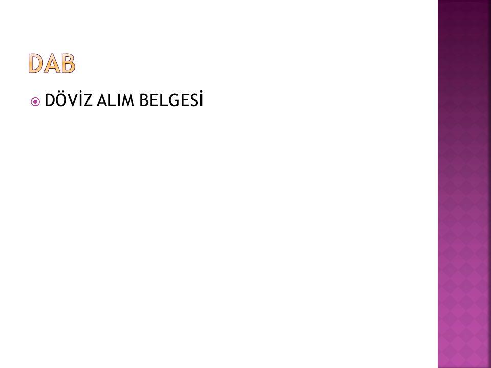 DAB DÖVİZ ALIM BELGESİ