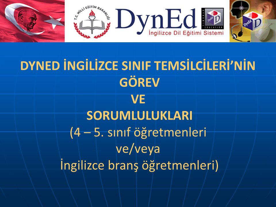 DYNED İNGİLİZCE SINIF TEMSİLCİLERİ'NİN