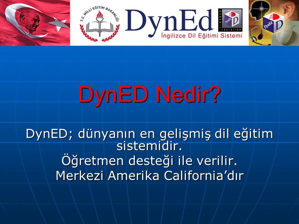 DynED Nedir DynED; dünyanın en gelişmiş dil eğitim sistemidir.