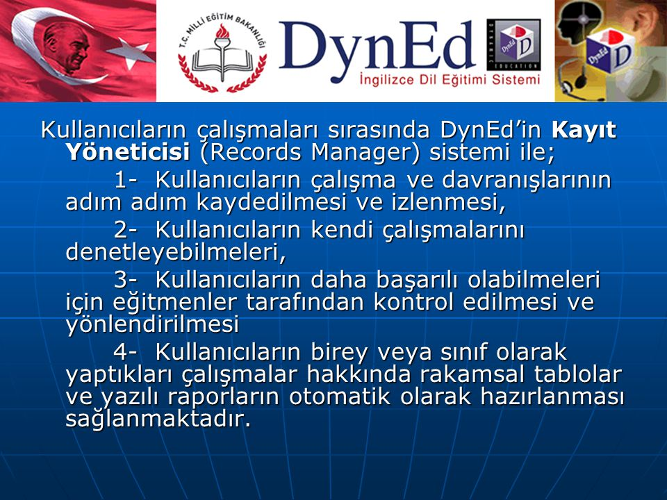 KAYIT YÖNETİCİSİ (Recort Manager)