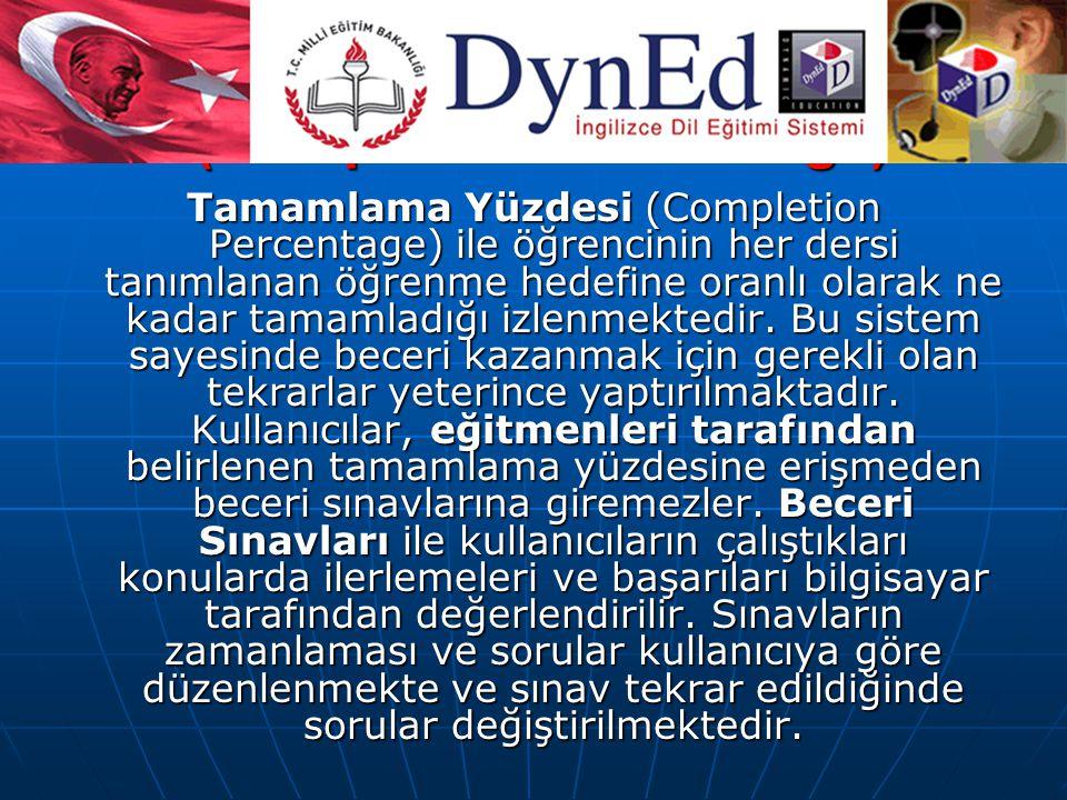 TAMAMLAMA YÜZDESİ (Completion Percentage)